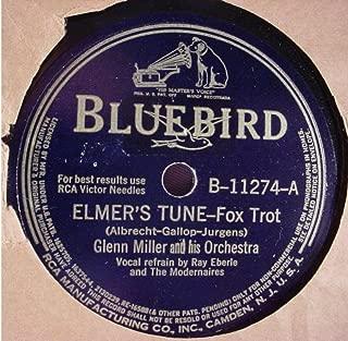 Rare Glenn Miller & His Orchestra Very Nice Original 10 Inch 78 rpm & Original Bluebird Stock Paper Sleeve - Elmer's Tune / Delilah - Bluebird Records B-11274 - 1941