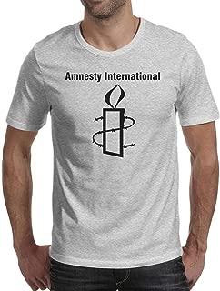 Amnesty International Mens Novelty T-Shirt 100% Cotton Tee