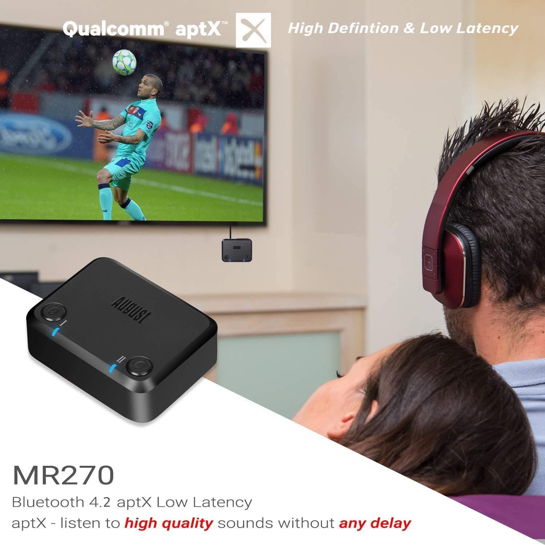 August MR270 Transmisor Bluetooth para TV PC, con Óptico / 3.5mm / RCA: Amazon.es: Electrónica