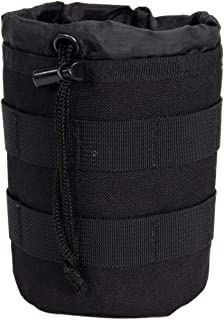 Tactical Baby Gear Bottle Pouch 2.0 Thermal Insulated MOLLE Drawstring Open Top (Black)