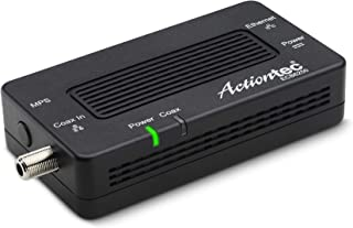 Actiontec MoCA 2.5 Network Adapter for Ethernet Over Coax (1 Pack) – 1 Gbps Ethernet, Coax to Ethernet Adapter, Enhanced S...