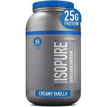Isopure Zero Carb Protein Powder, Creamy Vanilla, 3 Pounds