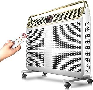 Convectores LHA Calentador de radiador con termostato Ajustable de Pared o de pie, Blanco, 2400 vatios