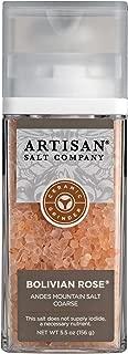 SaltWorks Bolivian Rose Andes Mountain Salt, Coarse, Artisan Grinder Jar, 5.5 Ounce