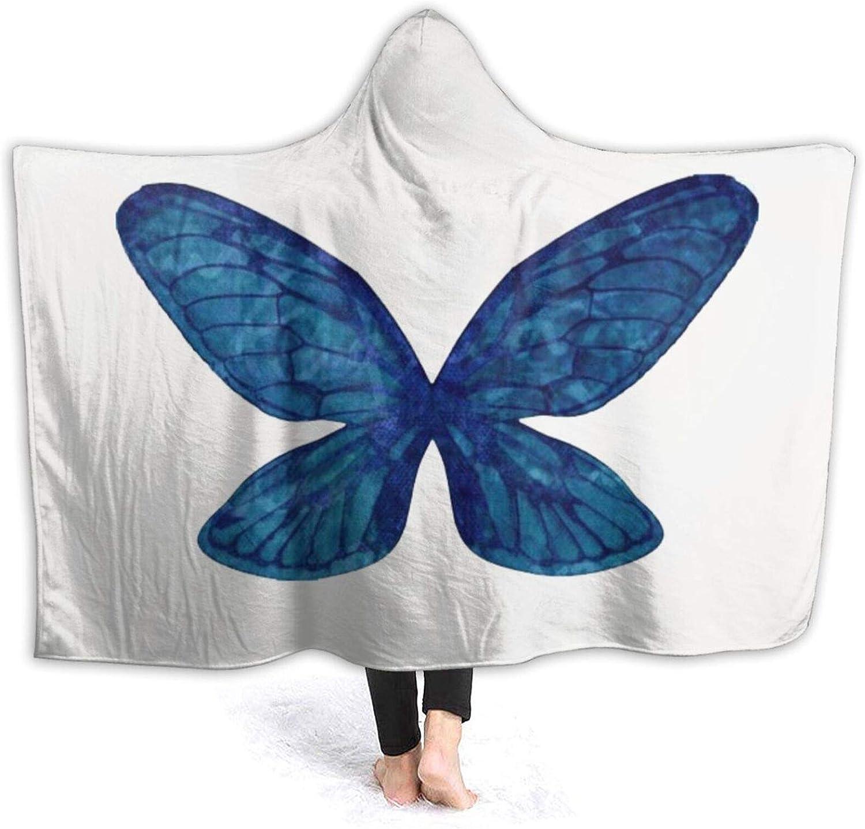 shopping Wearable Hooded Blanket Butterfly Wings Blue Super sale Throw Flannel Blank