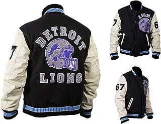 Mens Hills Cop Axel Foley Beverly Detroit Lions Vintage Sports Woolen Varsity Jacket