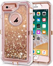 Anuck iPhone 6S Plus Case, iPhone 6 Plus Case, 3 in 1 Hybrid Heavy Duty Defender Case Sparkly Floating Liquid Glitter Prot...
