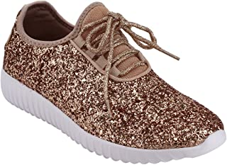 Best shiny gold sneakers Reviews