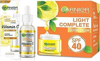Garnier Light Complete VITAMIN C Booster Face Serum 30 ml & Garnier Skin Natural Light Complete White Speed Fairness Serum...
