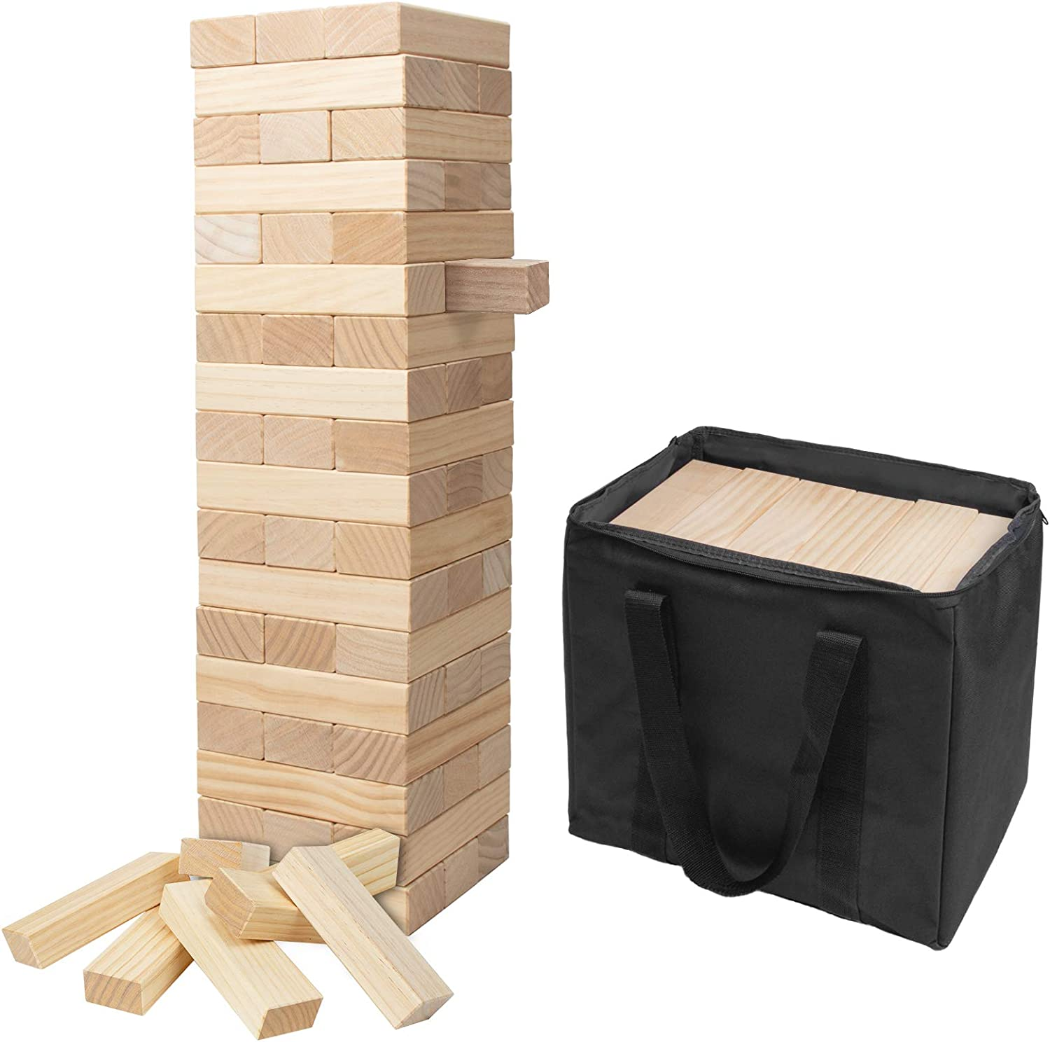 X-Large Giant Challenge the lowest price of Japan Tumble Tower Stacks to Feet Free shipping Game 5+ Jumbo 54PCS