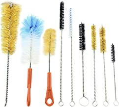 McKay 9 Piece Variety Pack Wire Tube and Bottle Brush Cleaning Set- Variable Sizes & Shapes Brushes - Bristles Fabricated with Soft and Stiff Natural Boar Bristles or Nylon, Hog Hair - Easy to Clean