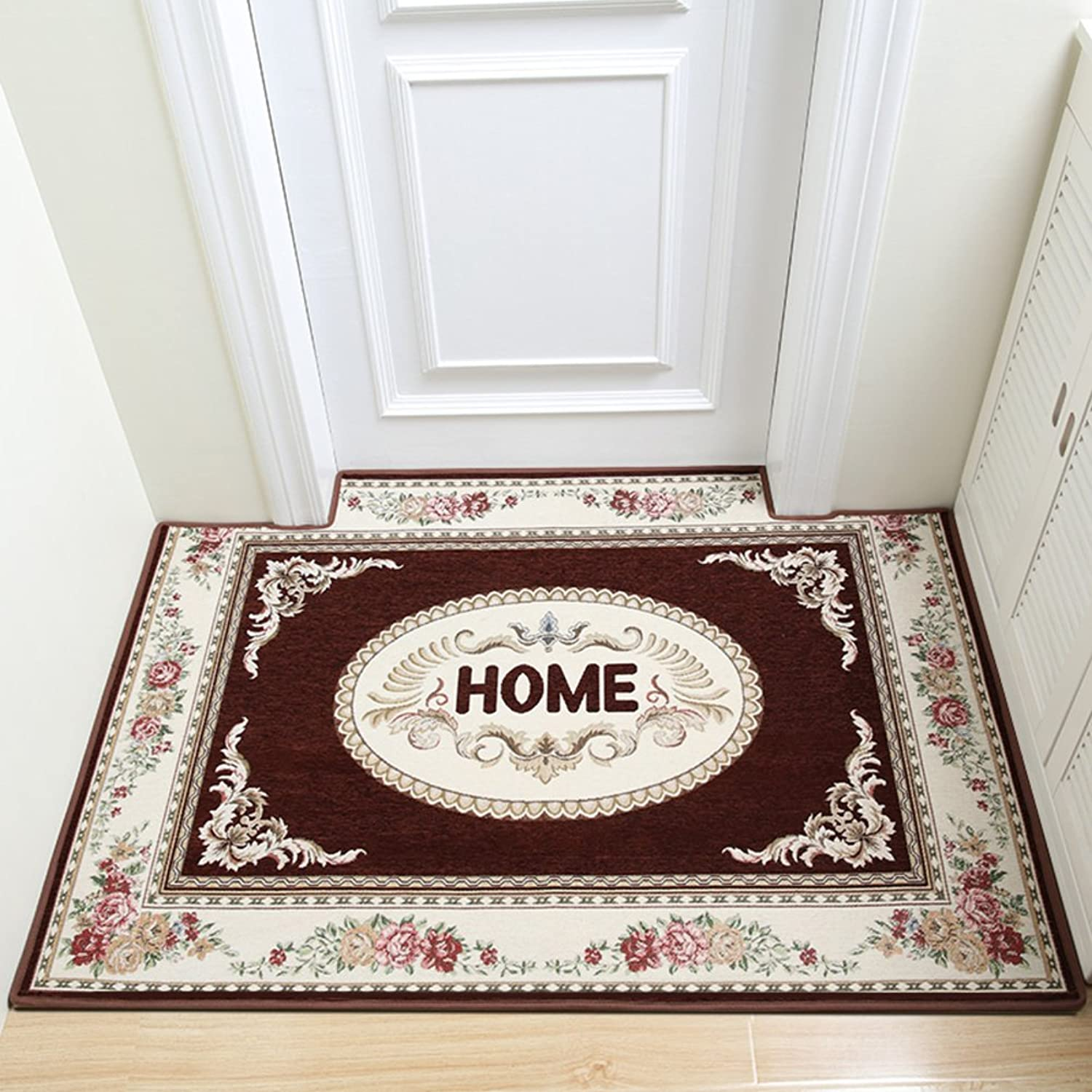 Simple Doormats, Cozy Non-Slip Fastness Carpet, European Style Mat, Bathroom Kitchen Doorway Balcony-B 70x140cm(28x55inch)