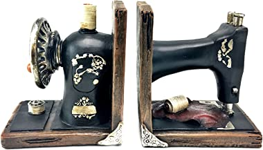 Bellaa 21383 Sewing Machine Bookends Vintage Style 6 Inch Tall