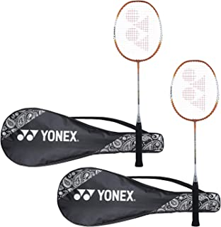 Yonex ZR 100 Light Aluminium Blend Badminton Racquet with Full Cover, Set of 2