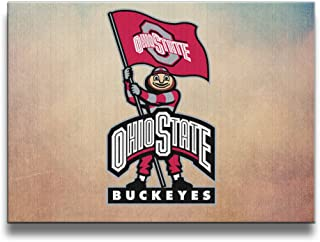 Bekey Ohio State University Logo Art Photo For Home Office Decorations Wall Decor For Living Room&bedroom