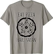 Eat Pizza Hail Satan T-Shirt Funny Men Women Love Pizza Gift