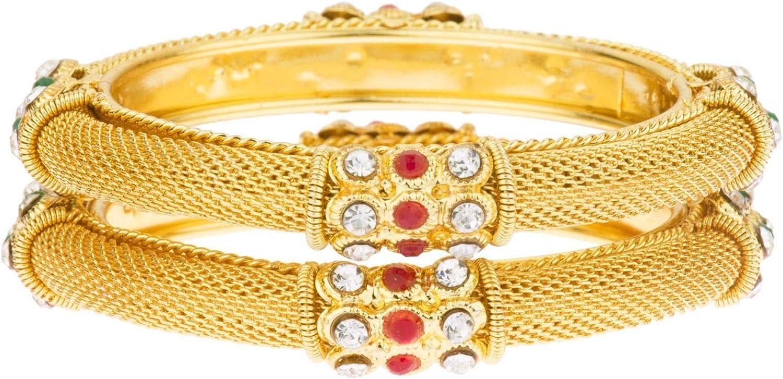 Efulgenz Indian Style Bollywood Antique Traditional Wedding Bridal Bracelet Bangle Set Jewelry