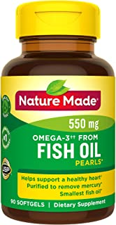 Nature Made Omega-3†† from Fish Oil 550 mg Softgels, 90 Count for Heart Health† (Packaging May Vary)