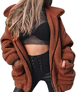 Women's Coat Faux Shearling Jacket Casual Lapel Fleece Fuzzy Jacket Shaggy Oversized Jacket Fashion Cardigan Coat