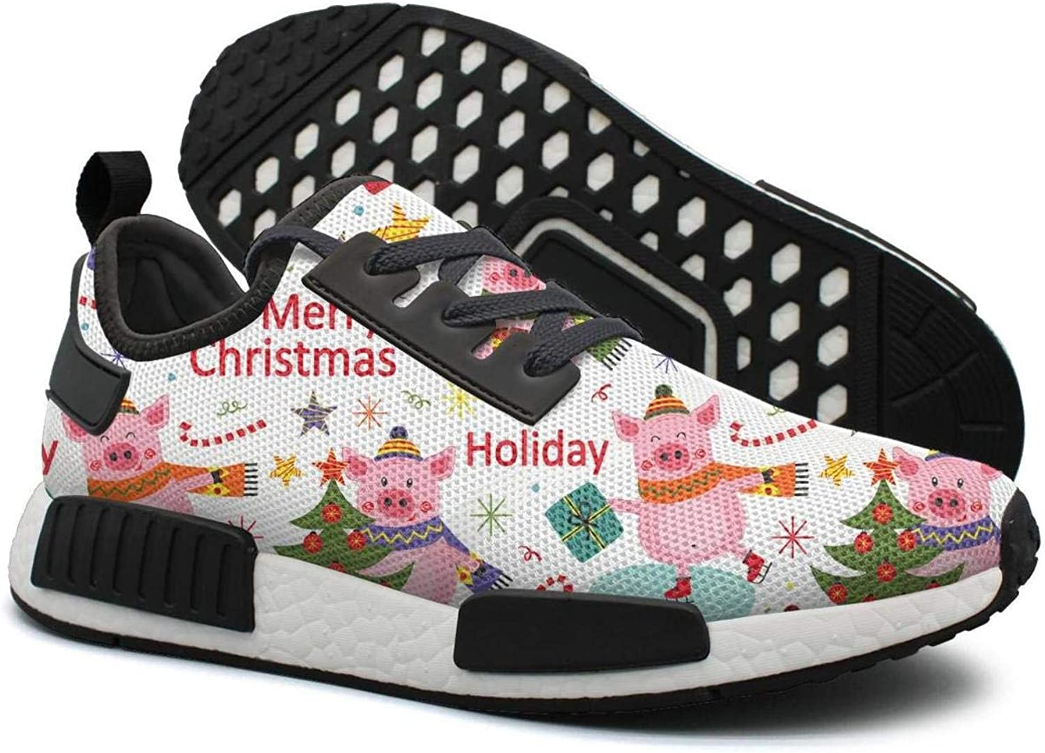 Pduiqo Happy New Year of The Pig Women's Exclusive Lightweight Basketball Sneakers Gym Outdoor Sports shoes