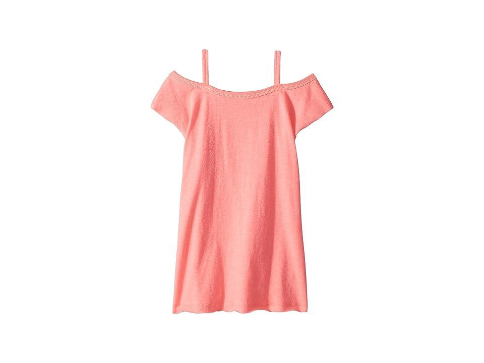 Splendid Littles Off Shoulder Jersey Dress (Toddler) (Electric Pink) Girl