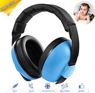Baby Ear Protection Noise Cancelling Headphones Infant Hearing Protection Noise Reduction Baby Earmuffs for 0-3 Years Babies Toddlers Infant Sleeping Airplane Concerts Fireworks (Blue)