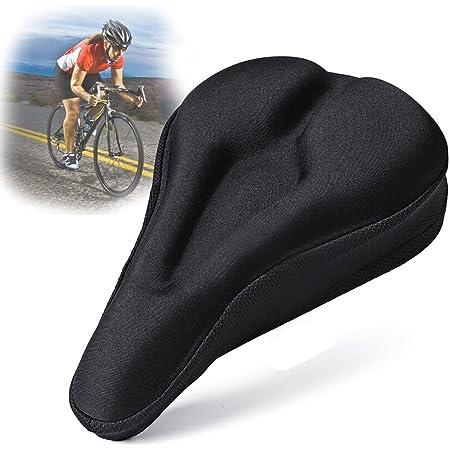 自転車 サドルカバー JUSYO 低反発クッション 超肉厚 サドルカバー ジェル内蔵 衝撃吸収 滑り止め付 長時間座っても疲れにくい!
