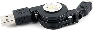 DURAGADGET Cable Mini USB Retráctil para Dash CAM Dash Rollei CarDVR-308, Rollei CarDVR-318 - Ideal para Conectar Su Dispo...