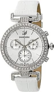 Swarovski Women's Silver Dial Leather Band Watch - 5295346