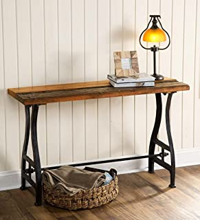 Plow & Hearth Birmingham Console Table in Reclaimed Wood and Metal