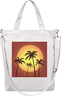 Women's Canvas Tote Bags Craft Shopping Bags Washable Handbag Perfect for Groceries Recycle Gift Bags