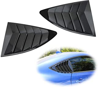iJDMTOY Left/Right Gloss Carbon Fiber Finish Racing Style Rear Side Window Scoop Air Vent/Louver Shades For 2013-up Scion FR-S Subaru BRZ and Toyota 86