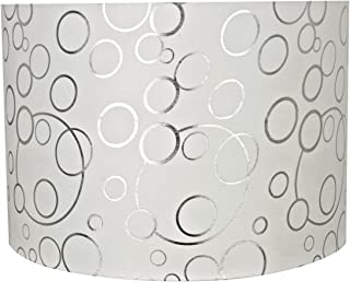 Aspen Creative 31163 Transitional Drum (Cylinder) Shaped Spider Construction Lamp Shade in White, 16