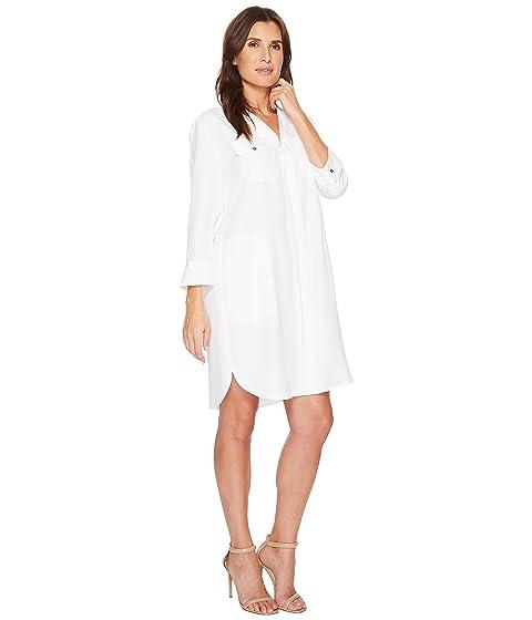 NIC+ZOE Wanderlust Shirtdress Paper White Cut-Price fPRMct