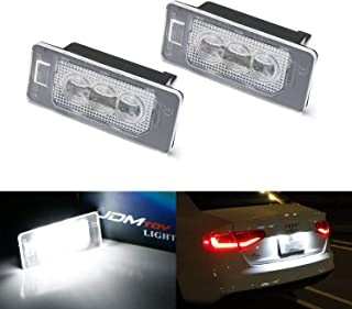 iJDMTOY OEM-Fit 3W Full LED License Plate Light Kit For Audi A3 A4 A5 A6 A7 Q3 Q5 Q7 TT Porsche Cayenne Panamera, Powered by 3-piece Osram Xenon White LED & Can-bus Error Free