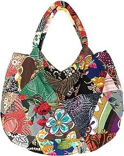 kilofly Bohemian Top Handle Cloth Shoulder Bag Handbag Tote, Patchwork
