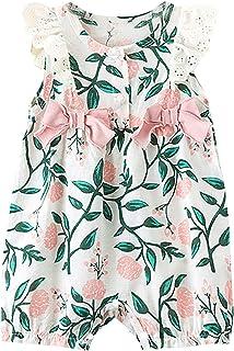 Huihong Strampler Mädchen Kleinkind Baby Baumwolle Einteilige Open File Sommer dünne Crawl Anzug Schmetterling Anzug
