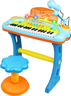 Electronic 37-Key Toy Piano Keyboard for Kids with Real Work