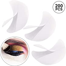 200 Pieces Eyeshadow Shield Eyeshadow Gel Pad Patches Eyeshadow Stencils for Prevent Eyelash Extensions, Tinting and Lip Makeup Residue (200 Pieces)