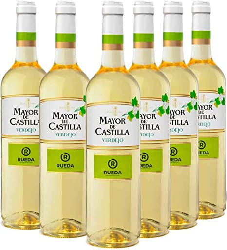 Mayor de Castilla Verdejo - Vino Blanco D.O Rueda, Pack de 6 Botellas x 750 ml: Amazon.es: Alimentación y bebidas