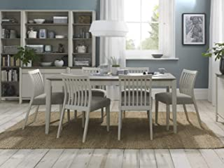Everhome Designs - Austin 7 Piece Grey Washed Oak Two Tone Extension Dining Table Set