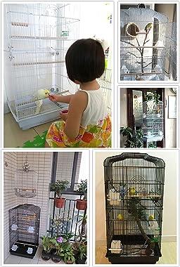 DDSFDS Parakeet Bird Cages, Metal Travel Carrier Pet Flight Birdcage for Lovebirds Finches Canaries Cockatiels Budgie Parrotl