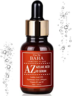 Azelaic Acid 10% Serum 1oz with Niacinamide - Rosacea Skin Care Product + Reduce Cystic Acne Scar + Redness Relief Face + Pimple Pigmentation Blackhead + Vitamin B3 + B5, Gluten Free, 1oz (30ml)