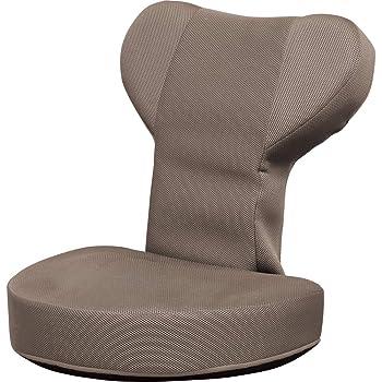 アイリスオーヤマ(IRIS) 座椅子 ブラウン 幅55×奥行58×高さ58cm ぐ~たらチェア GUC-1