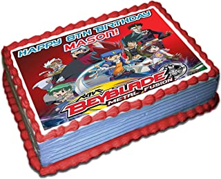 Beyblade Personalized Cake Toppers Icing Sugar Paper 1/4 8.5 x 11.5 Inches Sheet Edible Frosting Photo Birthday Cake Topper (Best Quality Printing)