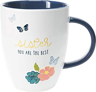 Pavilion Gift Company 20 Oz Large Coffee Mug Tea Cup Sister You Are The Best, Blue