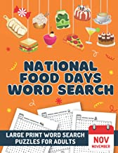 National Food Days Word Search For November: Large Print Word Search Puzzles For Adults