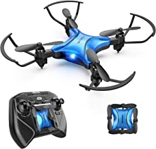 DROCON DC-65 Foldable Mini Drone for Kids, Beginner RC Quadcopter with Altitude Hold/3D Flips/Self-Rotating/Headless Mode/One-Key Take-Off & Landing/One-Key Return/Speed Adjustment (Blue)