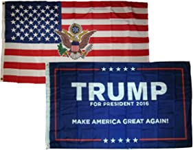 ALBATROS 3 ft x 5 ft USA President with Donald Trump Blue Flags Flag for Home and Parades, Official Party, All Weather Indoors Outdoors