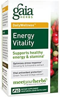 Gaia Herbs, Energy Vitality Phyto, 60 Count